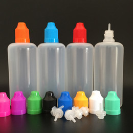 100ml LDPE E Liquid Dropper Bottle with Colorful Childproof Caps and Long Thin Tips, PE Plastic Needle Bottles, Empty Oil bottle