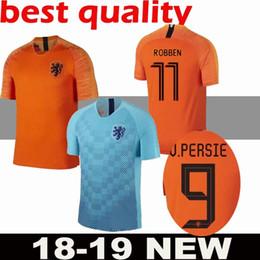 37319458d6524 19-2020 Nederland maillot de foot Pays-Bas à domicile orange MEMPHIS JERSEY  ROBBEN 18 19 thai qualité V.Persie maillots de football néerlandais hommes