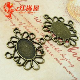 A4115 27*32MM Fit 10*14MM Antique Bronze DIY accessories oval metal stamping blank, vintage tibetan silver cameo cabochon base setting
