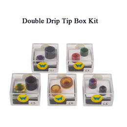 Newest Aleader 810&510 Double Drip Tip Series Box Kit Resin Honeycomb Colorful Cobra Vapes Drip Tip Fit For TFV8 TFV8 Baby TFV12