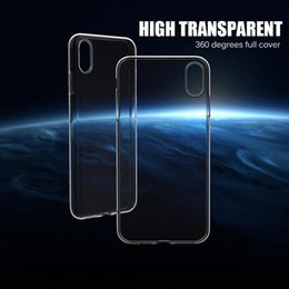 For iPhone 7 Clear Case Crystal transparent Soft TPU cover for iphone XS 6 7 plus samsung galaxy s10 lite s10 s10 plus