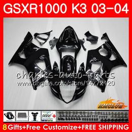 Frame For SUZUKI glossy black GSX-R1000 GSXR 1000 GSXR1000 03 04 Body 15HC.5 Bodywork GSX R1000 K3 GSXR-1000 03 04 2003 2004 Fairings kit