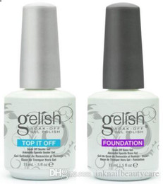 Top Quality Soak Off Nail Gel Polish For Nail Art Gel Lacquer Led uv Harmony Gelish Base Coat Foundation & Top coat