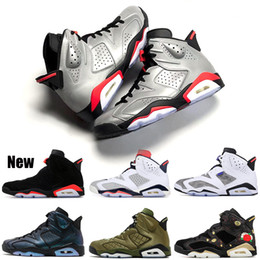 Basketball Shoes 6 6s Bred JSP Reflective Silver LTR Oreo Pinnacle Tinker Hatfield Black Cat All Star Mens Trainer Sports Sneakers 7-13
