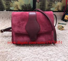 brand new genuine shoulder bag famous designer suede leather bag high quality satchel 550126