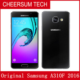 wholesale Original Samsung Galaxy A3 2016 A310F Single SIM 4.7 inch Quad Core 1.5GB RAN 16GB ROM 13MP 4G LTE Android Smart Phone free DHL