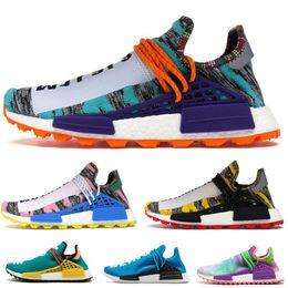 2019 Human Race Hu trail pharrell williams men running shoes Nerd black blue women mens trainers fashion sports runner sneakers EUR36-47