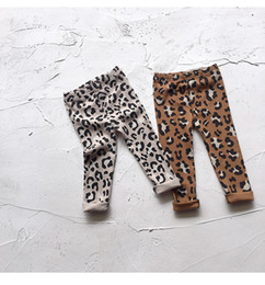 Baby girls Korean Casual Leopard Leggings Tights Kids slim trousers pants Print Stretchy Legging Kids design Clothes Clothing