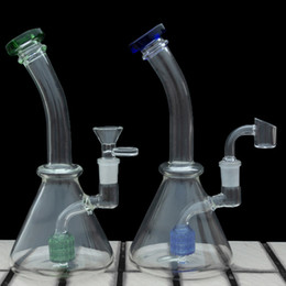 Glass Beaker Bong Heady Water Bong thick glass bongs with quartz banger water hookah 14mm Bowl bubbler pipes mini oil dab rigs