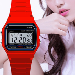 Luxury Man Watch Silicone Led Watch alarm clock F-91W watches Digital Led clock F91W LED watches Fashion Silicone Watch for Best Gift