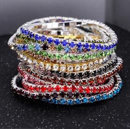 Fashion Crystal Rhinestone Stretch Bracelet Bangle Wedding Bridal Wristband Wedding Gifts Crystal Shining Bangles