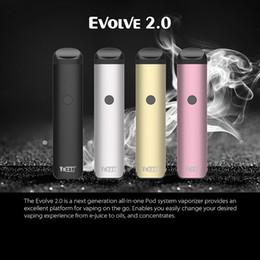 Original Yocan Evolve 2.0 E Cigarette Kits With 3 Pods 650mAh Preheating VV Battery Vape Pen Vaporizer For Thick Oil Ejuice Wax