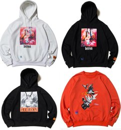 2019 New Fashion Print Sweatshirts Men Women Hip Hop Heron Preston Hoodies Pullovers Streetwear Heron Preston Sweatshirts S-XL