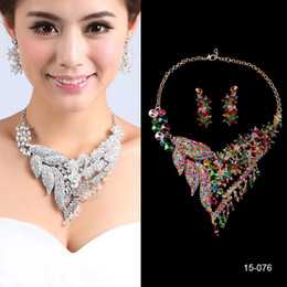 Charming Wedding Bridal Sets Accessories Jewelry Necklace Earring Set Party Jewelry for Wedding Party Bride