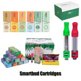 Smartbud Smart Carts Cartridges Clear Exotic Edition Magnetic Box SmartCart 0.8ml 1.0ml Glass Tank 510 Ceramic Thick Oil Atomizer Not Leak
