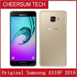 Refurbished Original Samsung Galaxy A3 2016 A310F Single SIM 4.7 inch Quad Core 1.5GB RAN 16GB ROM 13MP 4G LTE Android Smart Phone DHL 1pcs