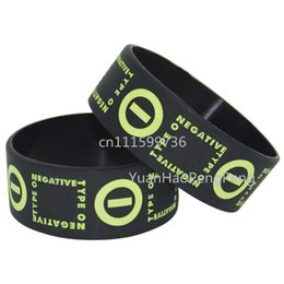 "25pcs lot TYPE O NEGATIVE Silicone 1"" Wide Rubber Bracelet Wristband"