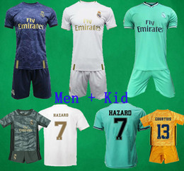 19 20 Real Madrid soccer jerseys shorts Goalkeeper soccer kits HAZARD BALE VINICIUS football shirts Camiseta De Fútbol Kids football uniform