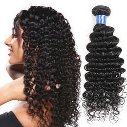 Grade 8A Malaysian Deep Wave Hair Bundles 4 Pcs Lot 100% Remy Human Hair Weave Natural Color