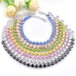 6pcs Luckyshin bridal wedding Jewelry Trendy Heart Citrine Kunzite Morganite Gemstone Silver For Women Cz Zircon Tennis Bracelets