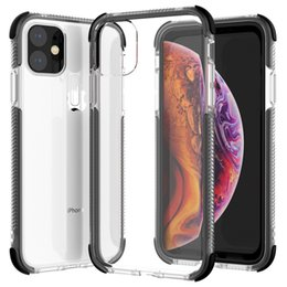 Anti Knock Defender Rugged Rubber Armor 2 in 1 Shockproof Transparent Hard TPU Case Clear Cover for iPhone 11 Pro Max XS XR X 8 7 6 6S Plus