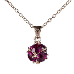Brand New 12Pcs Lot Luckyshine Rose Gold Red Gems Clusters Crystal Gems Pendant Bride Wedding Jewelry CZ Pendant Necklaces Gift