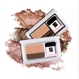Beginner Makeup Double Color EyeShadow Lazy Quick & Easy Shimmer EyeShadow Eye magazine Make Up With Brush
