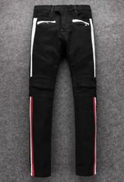 37ca2288b6190 Mens jeans Motorcycle biker jeans rock revival skinny Slim ripped Popular  Cool beggar Mottled hole true pants men designer