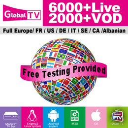 IPTV Subscription for Android TV Box with abonnement iptv 30+ countries 6000+live tv channels French USA CA Arabic UK IT German HD FHD