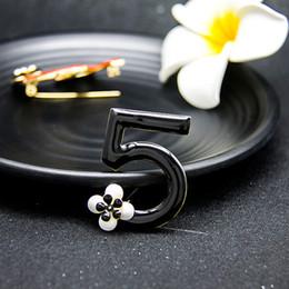 Fashion Luxury Charm Infinity letters brooches Flower scarf buckle rhinestone brooch