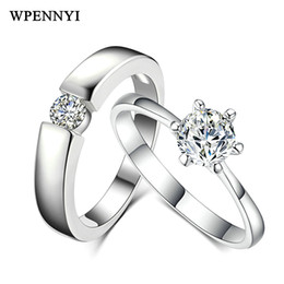 Classic Couple Rings Top Quality Sparkling Cubic Zirconia Love Engagement Ring Wholesale Fashion Jewelry Christmas Gift