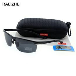 High Quality Mens Womens Aluminum Magnesium Aviation Alloy Polarized Sunglasses Designer Sun Glasses Rubber Noses UV400 Half-Frame Driver