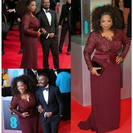 African Plus Size Mother Of The Bride Dresses With Satin Sashes Mermaid Burgundy Lace Chiffon Long Sleeves V-Neck Formal Party Gowns