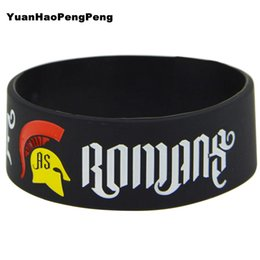 25pcs lot WE CAME AS ROMANS Silicone Filled in Colour Debossed Wristband Bracelet