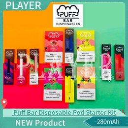 New Puff Bar Disposable Pod Starter Kit 280mAh Battery With 1.3ml Cartridge Device Pods Vape Pen 10 Flavors Find Similar Sponsored