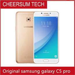 "refurbished Samsung Galaxy C5 Pro C5010 Mobile Phone4GB RAM 64GB ROM Fingerprint Dual SIM 5.2"" FHD NFC 16.0MP Camera 4GLTE Smartphone"