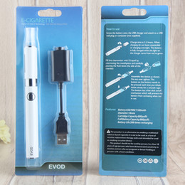 EVOD Vaporizer Batteries MT3 cartridge eVod Vape Pen Starter Kit E-Cig 1.6ml MT3 Clearomizer Ego e Cigarette Vapes Blister kit china direct
