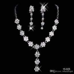 Charming Bridal Jewelry Charming Alloy Plated Rhinestones Pearls Crystal Jewelry Set for Wedding Bride Bridesmaid Free Shipping In 15025