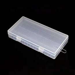 8*18650 Battery Box Case Safety Storage Container Plastic Portable Cases with Hook Holder Transparent fit 8X18650 batteries dhl free