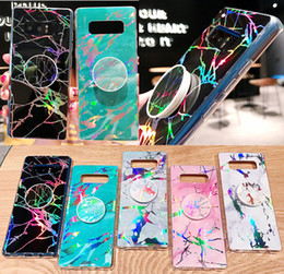 Marble Laser Airbag Bracket Case For Iphone XS MAX XR 7 8 Samsung S10 E Plus Note9 S9 HUAWEI Mate 20 Lite Y5 Y6 Y7 2018 Ultra-thin TPU Cover