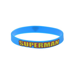 Wholesale 100PCS Lot Superman Silicone Wristband Bracelet Perfect To Use In Any Benefits Gift For Gamer