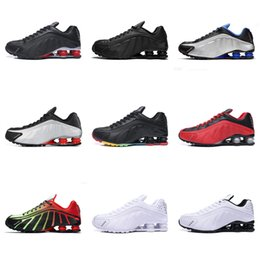 Shox Wholesale R4 Column Buffer Shox Shoes Tennis Shoes Running Shoes For Men Triple Black White Red Og Sliver Blue Trainers Sneakers 40-45