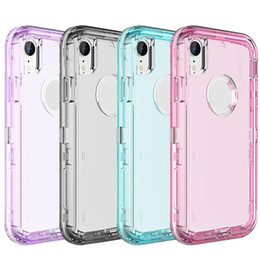3 in 1 Clear Robot Transparent Defender Cases For iPhone X 8 7 6 Plus Samsung S8 S9 Plus Note 9