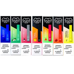 Newest Puff Bar Disposable Pods Device Starter Kit 280mAh Battery 1.3ml Cartridges Vape Pen 10 Flavors Blueberry Mango Watermelon Empty Kits