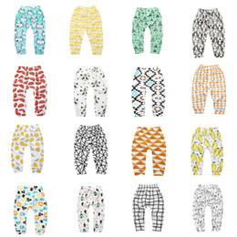 Wholesales INS Baby Long Pants Cute Cotton Unisex Baby Pants Fashion 23 Pattern Harem Pants