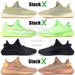 2019 Kanye Black Reflective Men women Designer Shoes Antlia Sesame Cream White Sports Running Shoes West Outdoor Sneakers Size 5-13