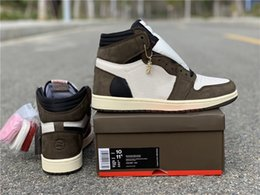 2019 TS 1s Cactus Jack mens basketball shoes High OG 1 TS sneakers outdoor sports Trainers CD4487-100