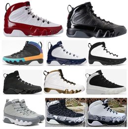 High Quality 9 Gym Red Dream It Do It Bred UNC Space Jam Basketball Shoes Men 9s Black Snakeskin Anthracite Sneakers With Box