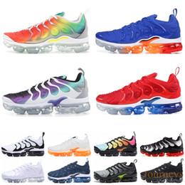 2019 USA TN Plus Running Shoes Men Women Grape Tropical Sunset Ultra White Black Designer Shoes TN Trainer Sport Sneakers 36-45