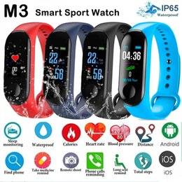 M3 Color Screen Smart Band Sport Bracelet Watch Fitness Activity Tracker Sports Wristband